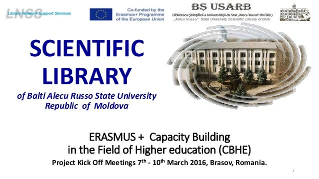 ERASMUS + Capacity Building in the Field of Higher education (CBHE) Project Kick Off Meetings 7th - 10th March 2016, Braso...
