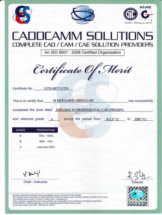 certificate cad slideshare upcoming