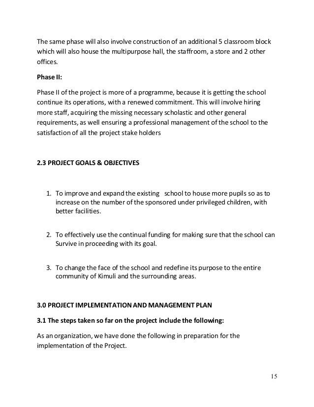 Project implementation plan for building a house