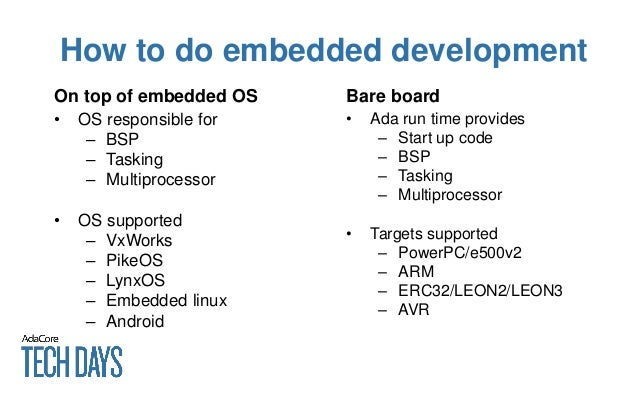 Tech Days 2015: Embedded Product Update