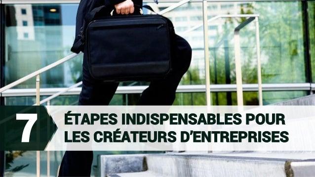 ÉTAPES INDISPENSABLES POUR LES CRÉATEURS D'ENTREPRISES7