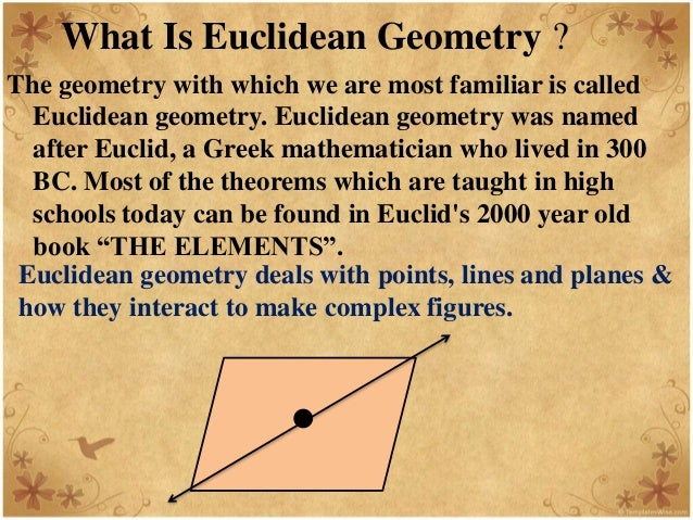 the differences between euclidean and non euclidean geometry