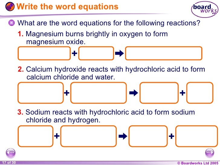 simple chemical reactions chemistry – Chemical Word Equations Worksheet