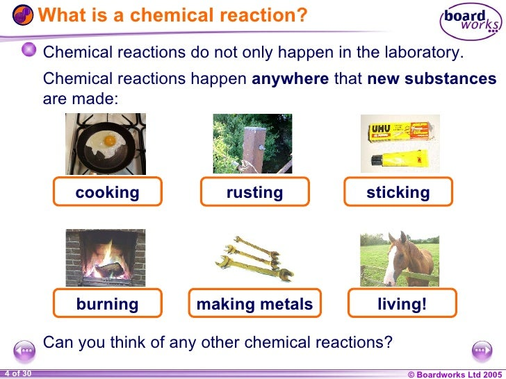 simple chemical reactions - chemistry