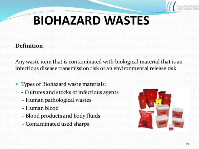 what is considered biohazardous waste