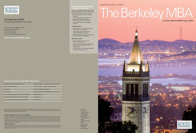 berkeley haas ewmba essays