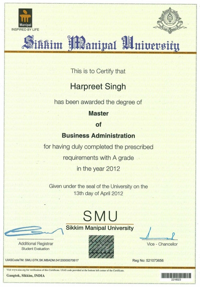 smu mba Sikkim manipal university offers quality education to the students from north and north eastern parts of india.