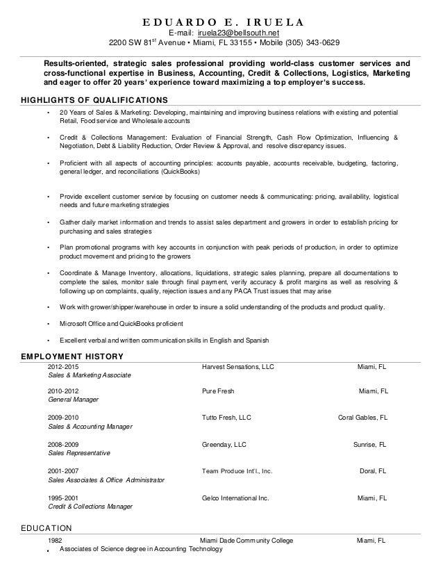 functional sales resume