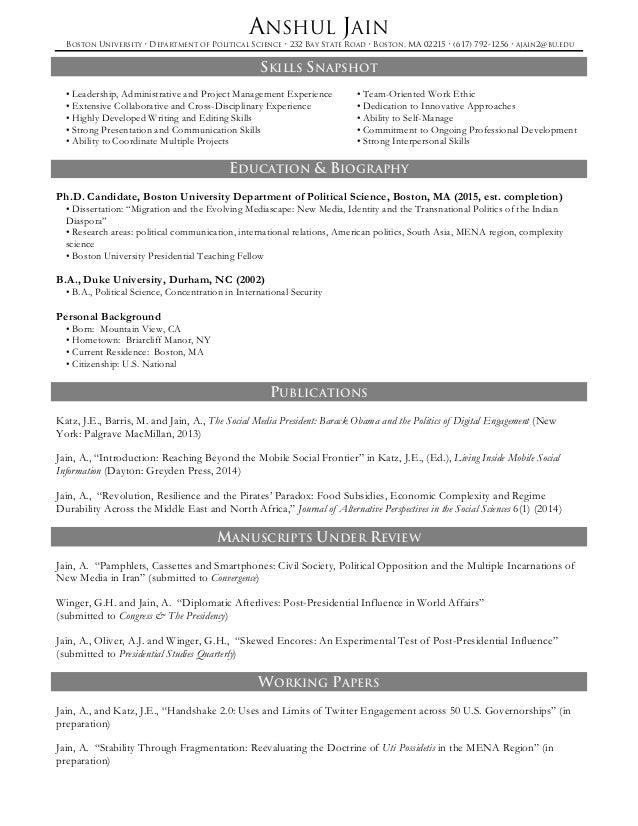 Sample Secondary Teacher Resume Template TrendResume Resume Styles And  Resume Templates Political Science Resume Political Science  Political Science Resume