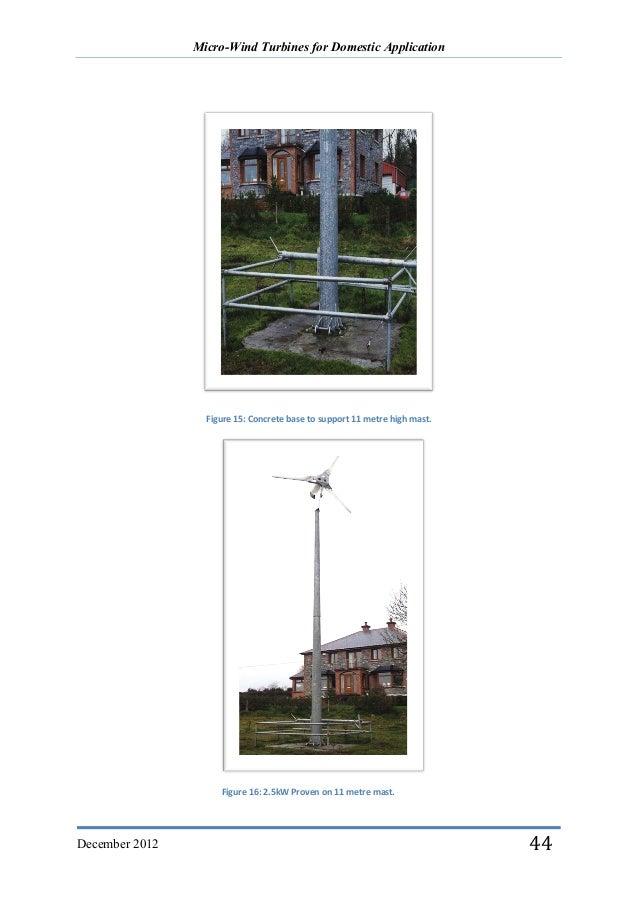 Micro Wind Turbines for Domestic Application