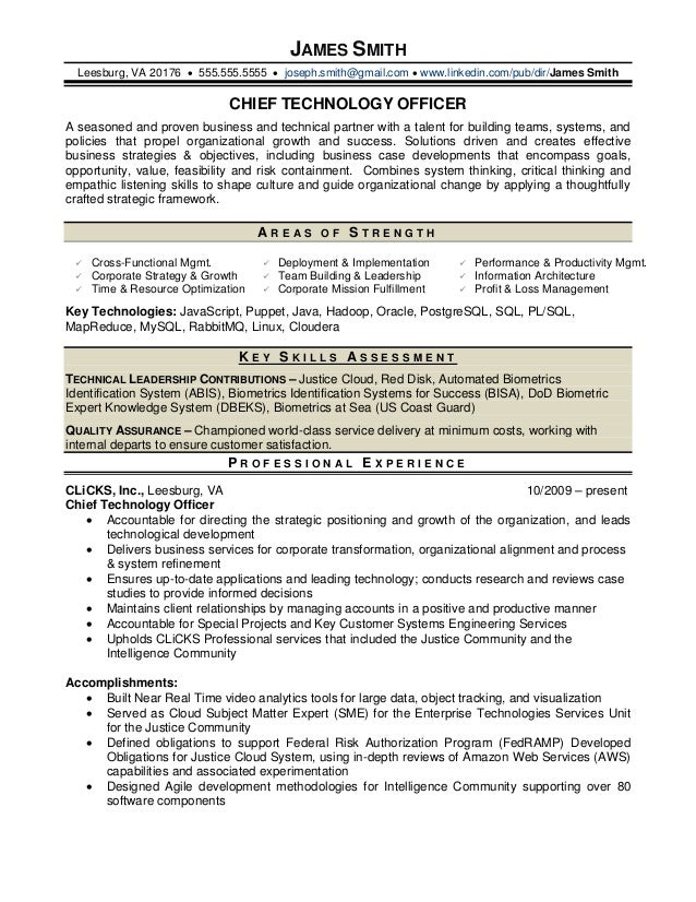 resume it officer sample
