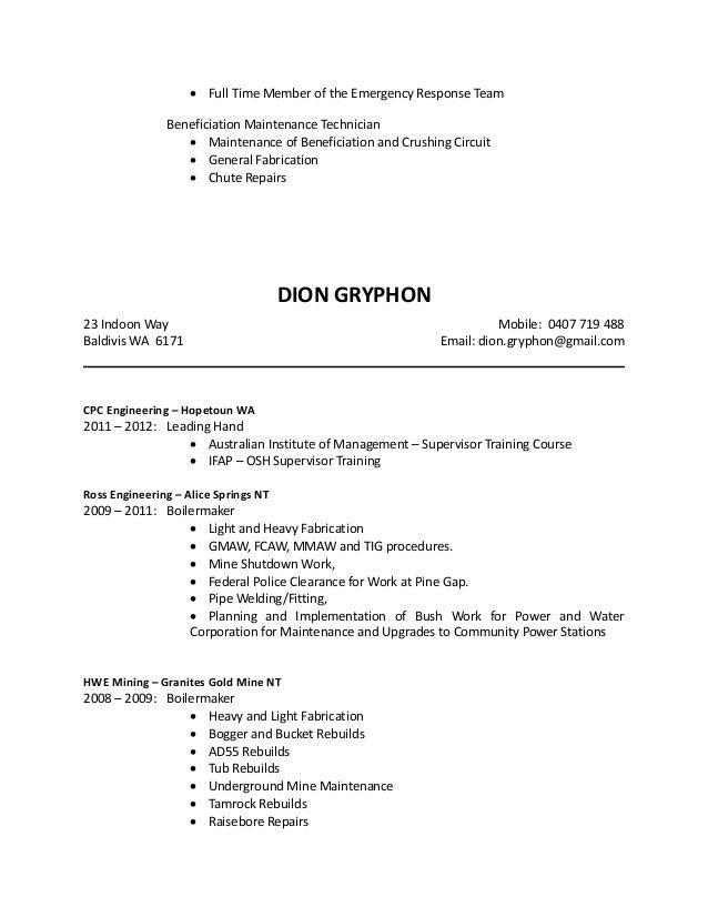 dion gryphon cv coverletter