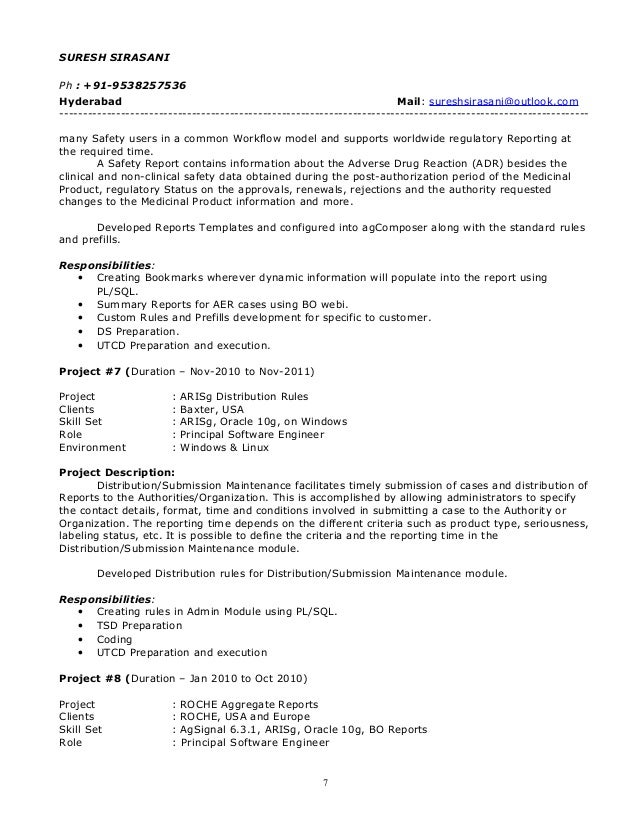 suresh resume pharma