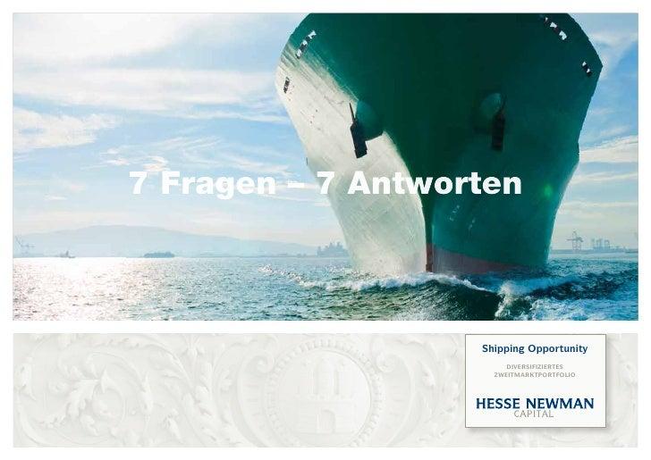 7 Fragen – 7 Antworten                       Shipping Opportunity                         DiverSifizierteS                ...