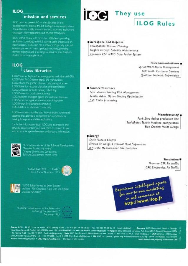 1996 ILOG Rules datasheet