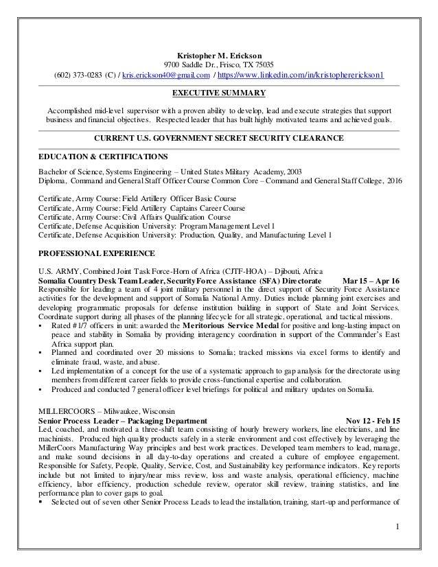 1 Kristopher M. Erickson 9700 Saddle Dr., Frisco, TX 75035 (602) 373-0283 (C) / kris.erickson40@gmail.com / https://www.li...