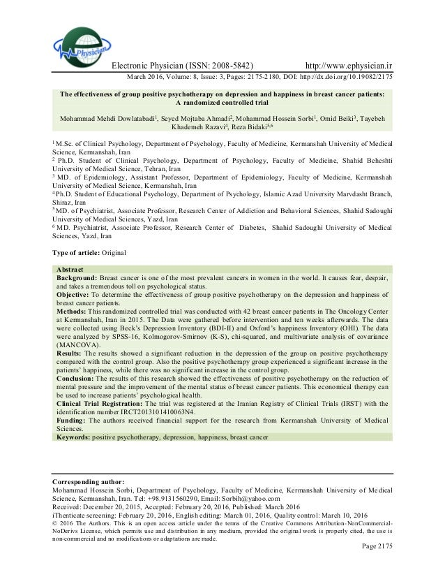 Electronic Physician (ISSN: 2008-5842) http://www.ephysician.ir March 2016, Volume: 8, Issue: 3, Pages: 2175-2180, DOI: ht...