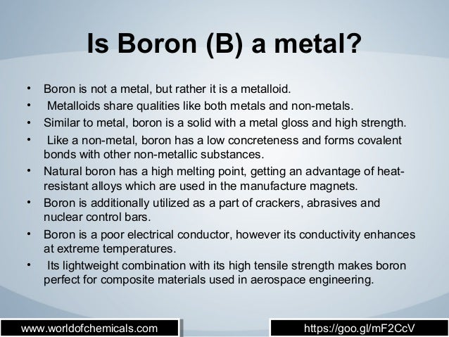 7 Facts That You Should Know About Boron