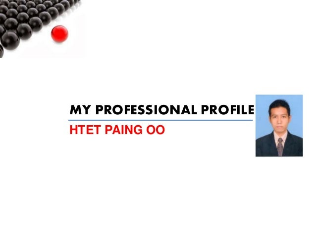 MY PROFESSIONAL PROFILE HTET PAING OO