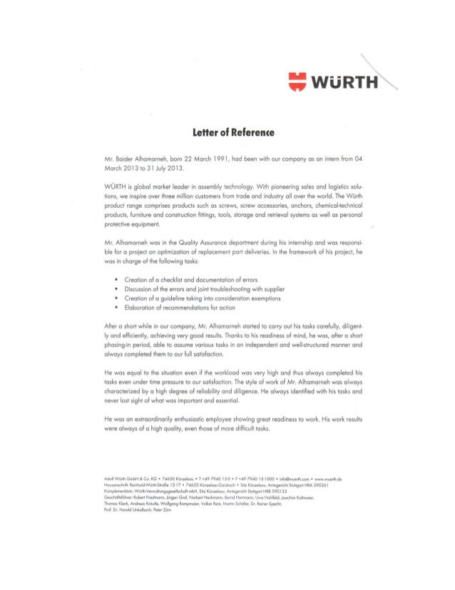 letter of recommendation guideline