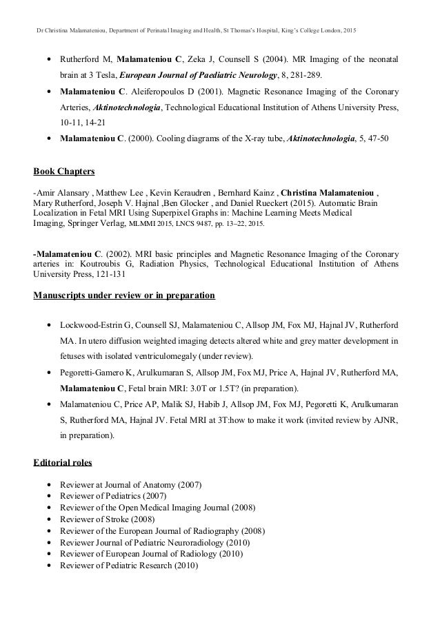 Malamateniou Publications September 2016
