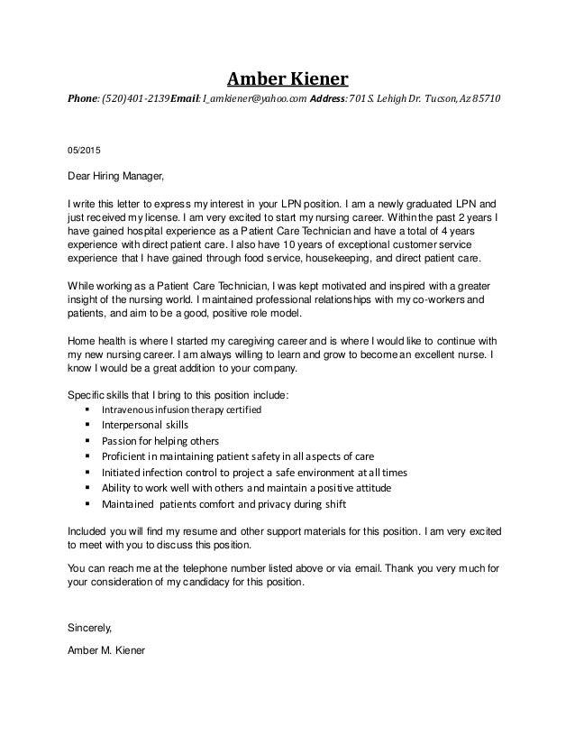 Ambers LPN Resume 2015. Amber Kiener  Phone:(520)401 2139Email:I_amkiener@yahoo.com ...  Lpn Resume