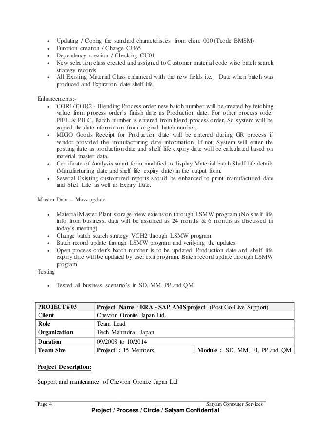 SEED SAP Training Academy  Sap Abap Resume
