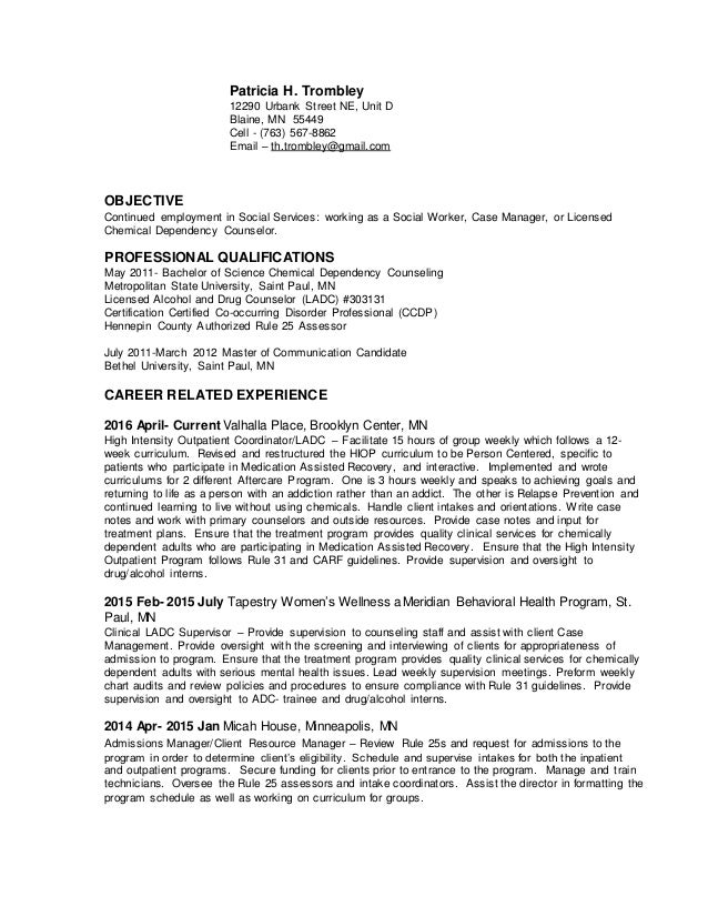 Job carletta resume tricia approach sample business plan document