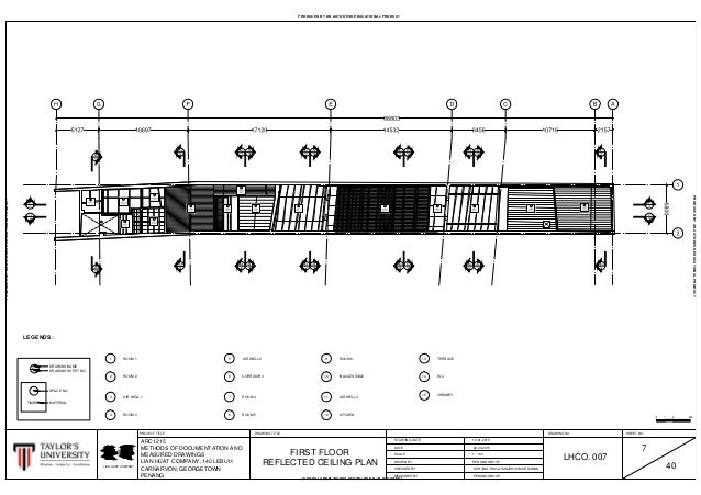 7 Finalised Ground & First Reflected Ceiling Plan Ready