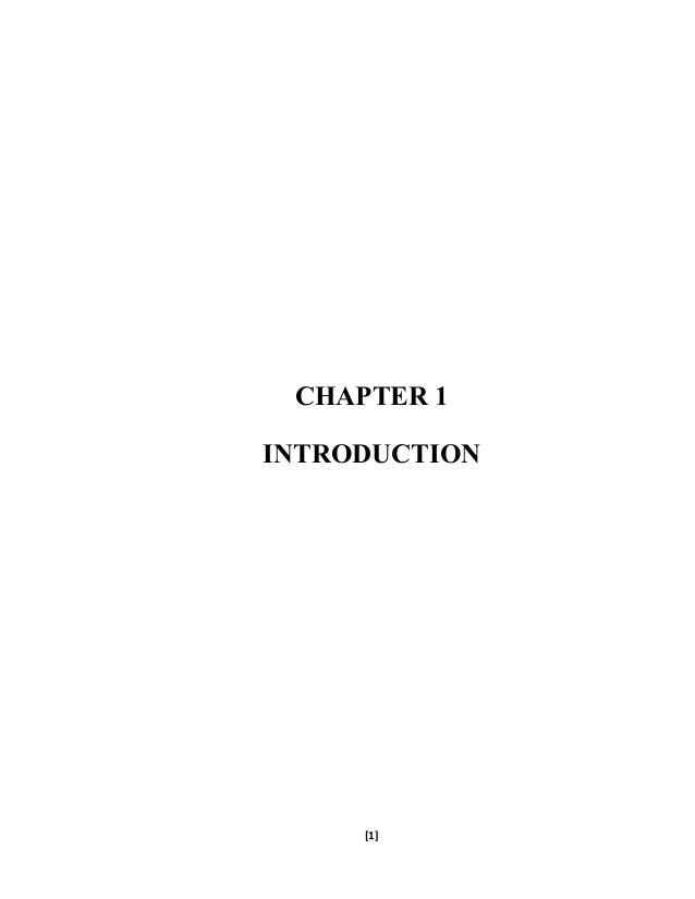 CHAPTER 1 INTRODUCTION [1]