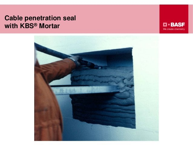 Cable penetration seal with KBS® Mortar