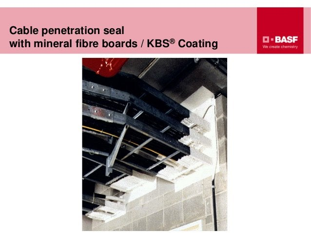 Cable penetration seal with mineral fibre boards / KBS® Coating