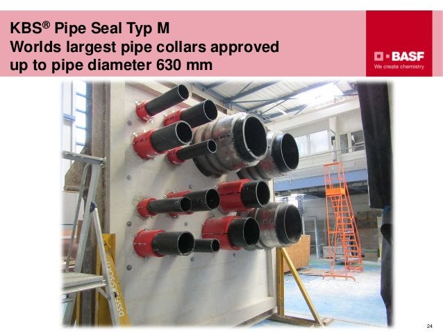 24 KBS® Pipe Seal Typ M Worlds largest pipe collars approved up to pipe diameter 630 mm