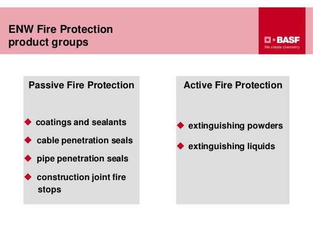 Passive Fire Protection  coatings and sealants  cable penetration seals  pipe penetration seals  construction joint fi...
