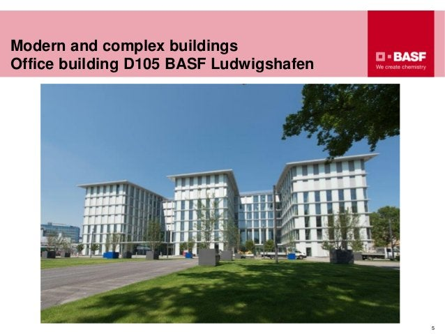 Modern and complex buildings Office building D105 BASF Ludwigshafen 5
