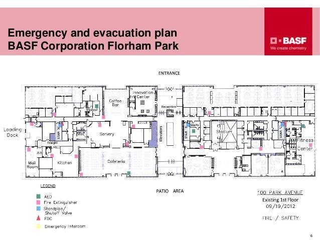 Emergency and evacuation plan BASF Corporation Florham Park 6