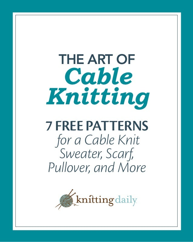caeaed445135 7 free cable knitting patterns