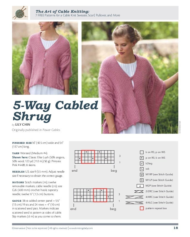 96232ff659ec ... 18. The Art of Cable Knitting  7 FREE Patterns ...