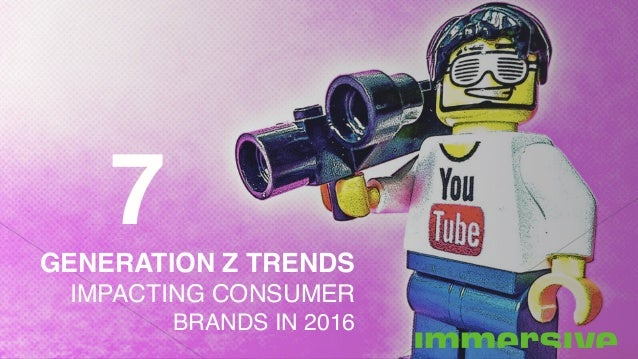 GENERATION Z TRENDS IMPACTING CONSUMER BRANDS IN 2016 7