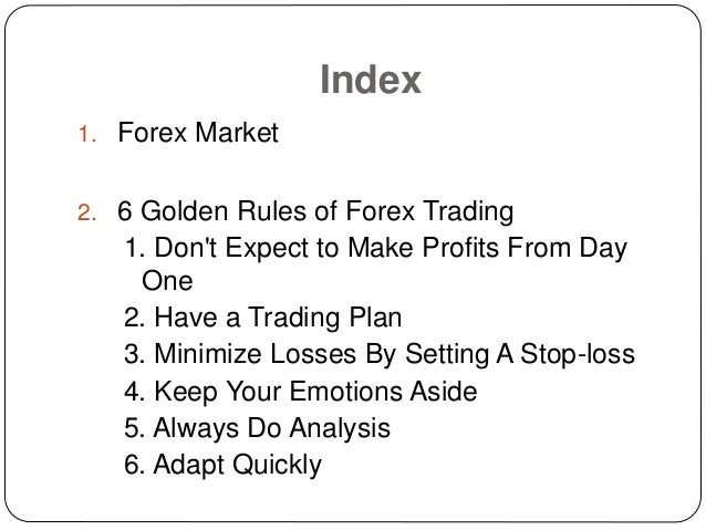 Forex Trading Rules Of Thumb - Forex Trading Experts