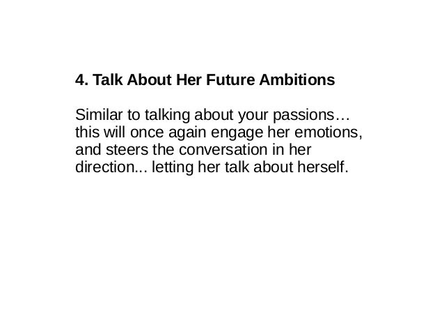Good Items To Talk To Girls About