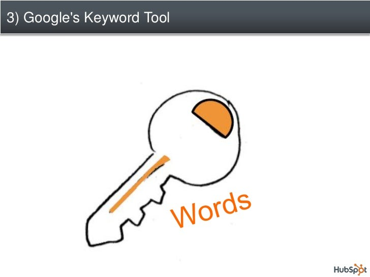 3) Googles Keyword Tool  Get Found