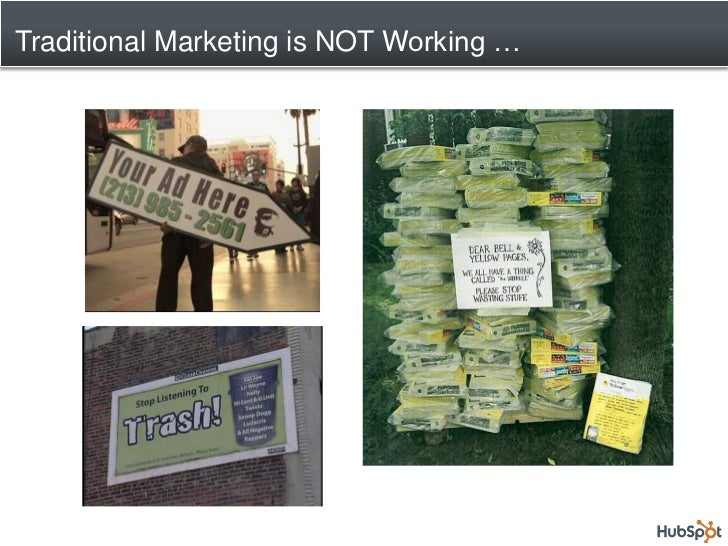 Traditional Marketing is NOT Working …