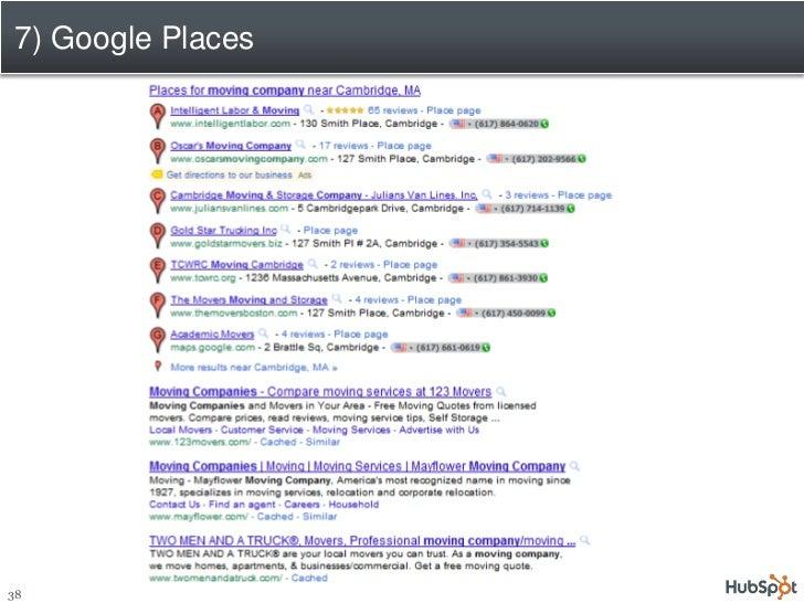 7) Google Places