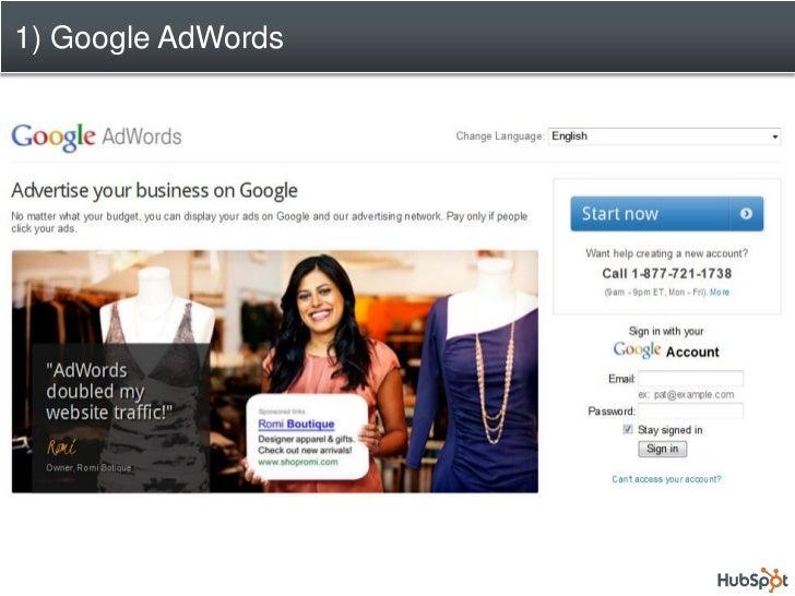 1) Google AdWords