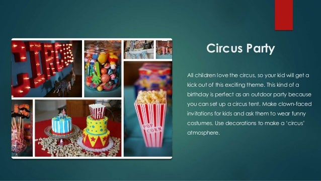 3. 7 great birthday themes for girls and boys