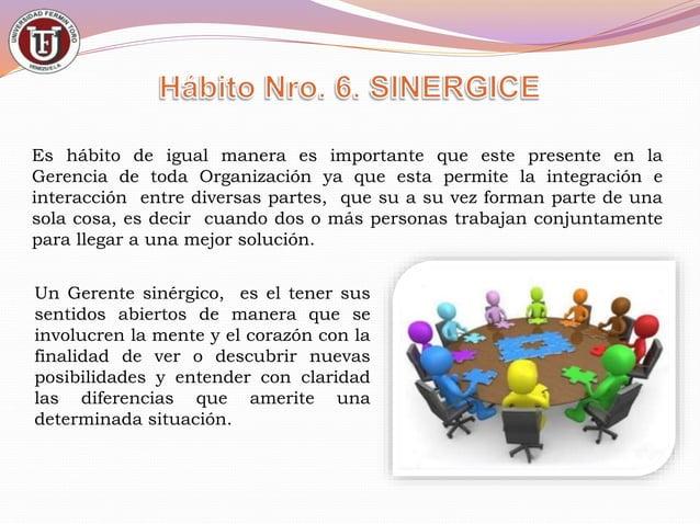 El 7mo. Hábito sigue siendo tan importante como los 6 anteriores, pues en este hábito el Gerente debe practicar, repasar y...