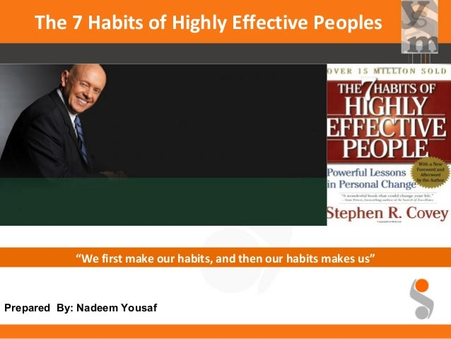 Day two completed – Seven Habits of Highly Effective People