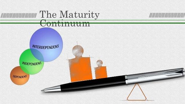 The Maturity Continuum