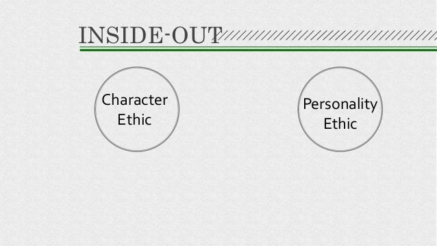 Character Ethic Personality Ethic INSIDE-OUT